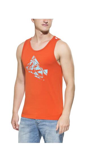 Gentic Polygony - Camisetas sin mangas Hombre - naranja
